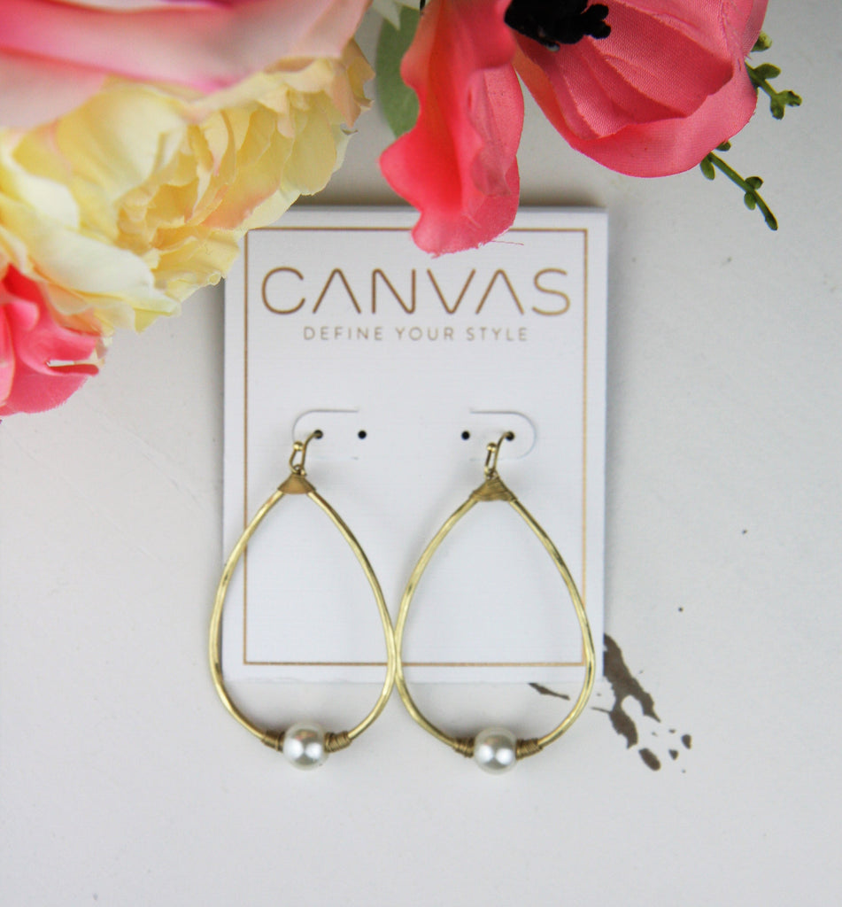 Canvas- Alexis- Earrings- Pearl