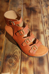 VIa Veneto Leather Strap Sandal