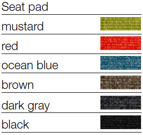 Novomodern Toou TA Side Chair Seatpad Options
