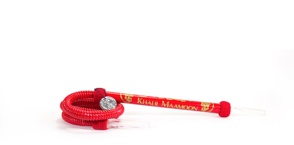 Red Standard Hookah Hose By Khalil Maamoon