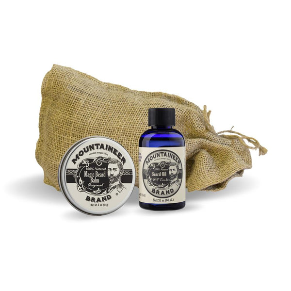 Magic Beard Balm/Beard Oil Combo: Original/Timber