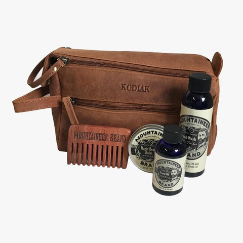 Product Image, Mountaineer Brand Build Your Own Beard Kit Leather, Comb
