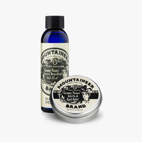 Product Image, Mountaineer Brand Granny Vicars' Insect Repellent & Itch Fix & Rash Relief Combo