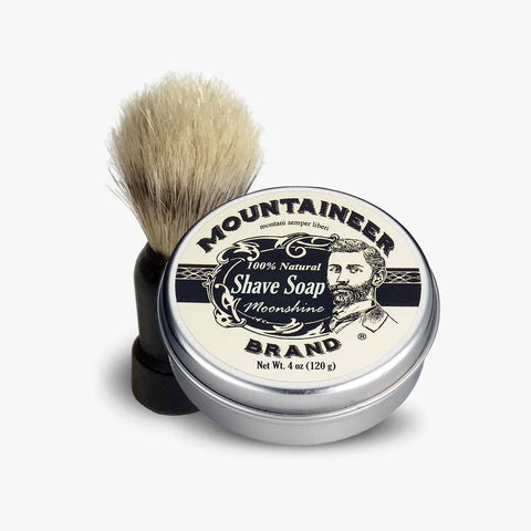Product Image, Mountaineer Brand Moonshine Shave Soap & Shave Brush Combo