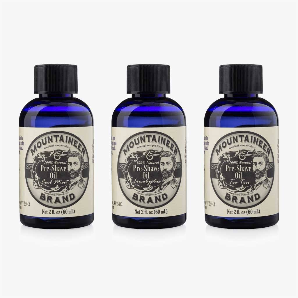 Pre Shave Oil Variety 3 Pack Mountaineer Brand Products