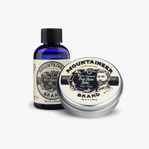 Product Image, Mountaineer Brand Pre-Shave Oil & Post-Shave Balm Combo, Tea Tree Scent