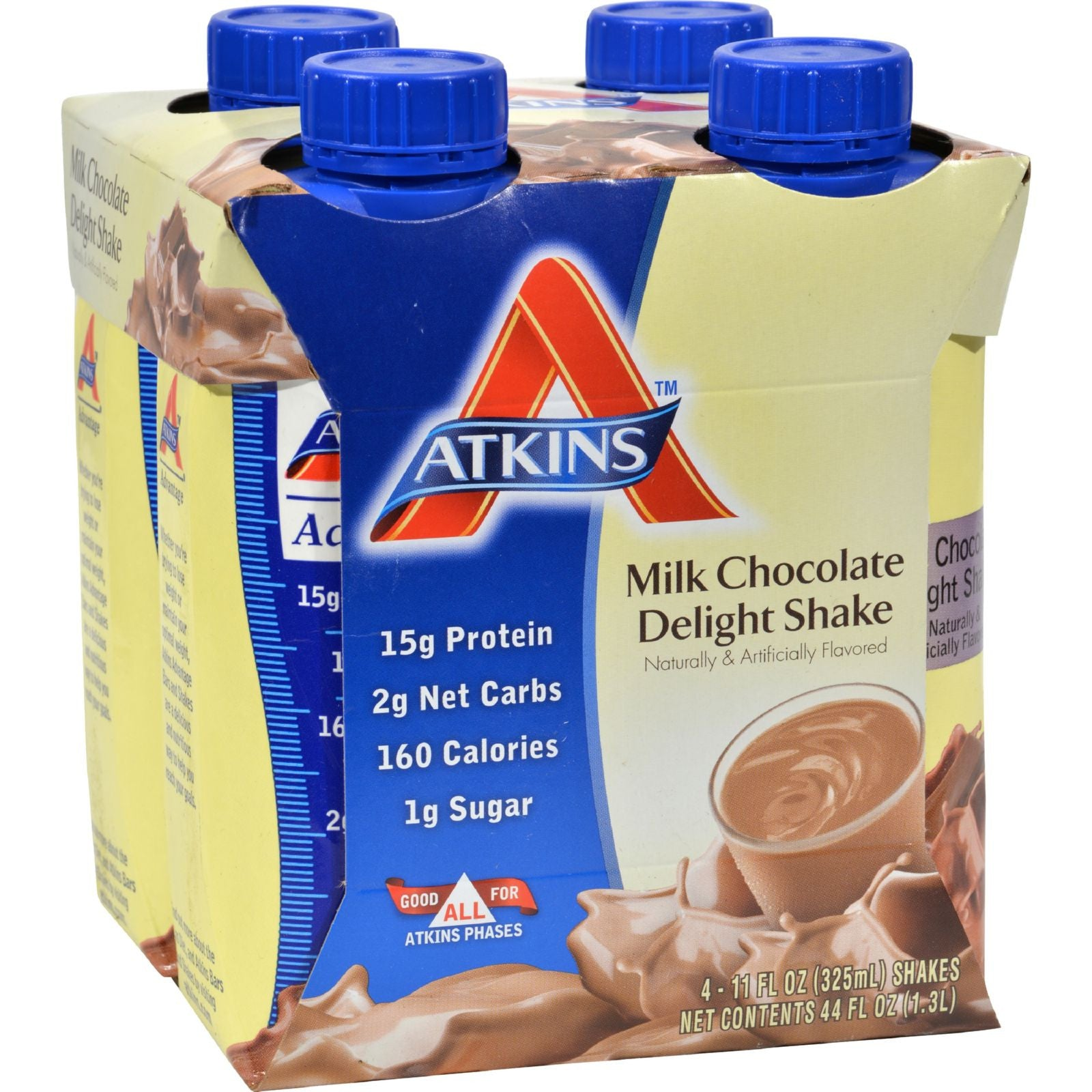 Atkins Advantage RTD Shake Milk Chocolate Delight - 11 fl oz Each ...