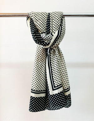 Ampthill scarf in Black & White print