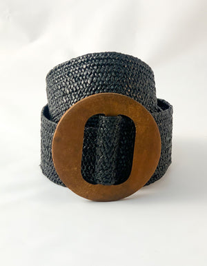 Cassie woven belt in Black