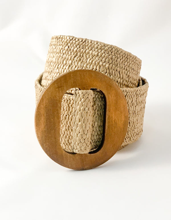Cassie woven belt in Cream