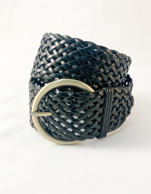 Cleo woven belt in Black