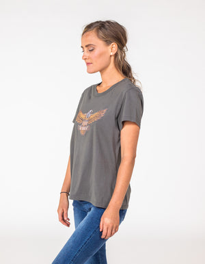 Kind at Heart printed top in Grey