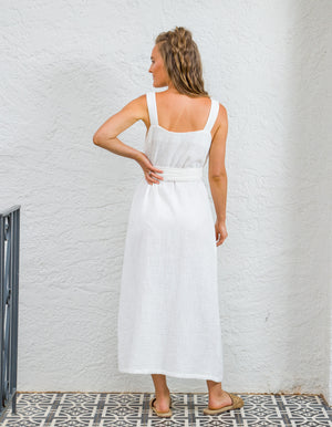Nadia cotton dress in White