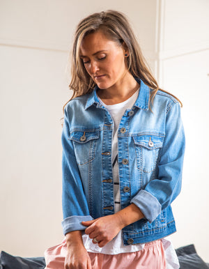 Rylan denim jacket in Blue wash
