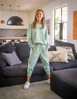 The Sophie jogger pant in Sage