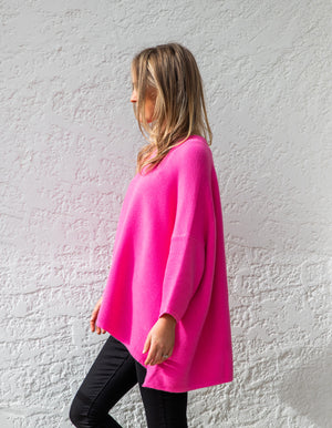 Neptune jumper in Hot Pink