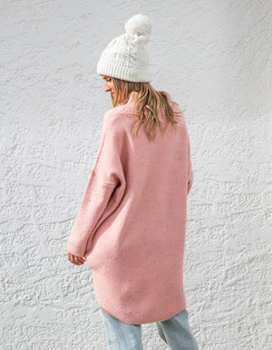 Poppy fleck jumper in Blush