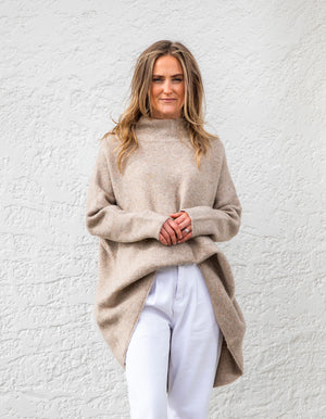 Poppy fleck jumper in Beige