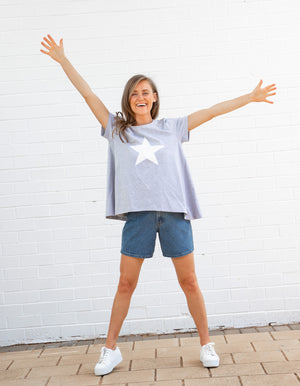 White Star top in Grey