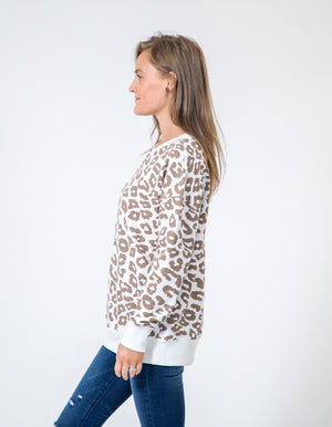 Alicia sweater in leopard print