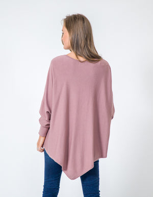 Zoe knit jumper in Dusty Mauve