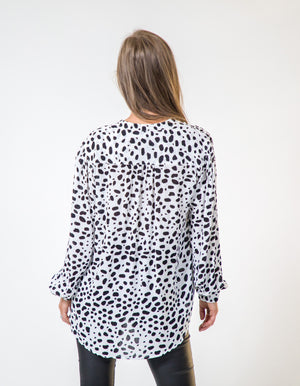 Coco top in dalmation print