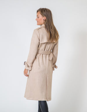 Sarah trench coat in Chestnut