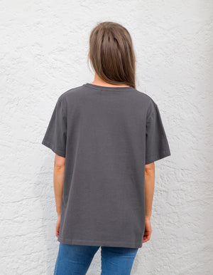 Reckless tee in Charcoal