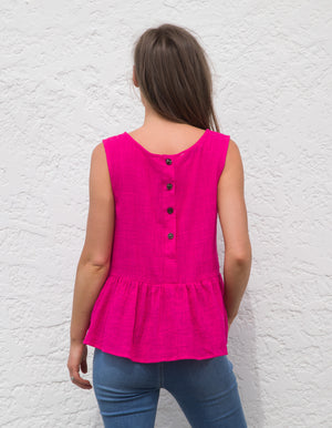 Sunkeeper cotton top in Hot Pink