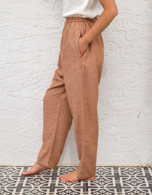 Feelin' Good linen pants in Tan