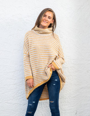 Monika jumper in Mustard stripe