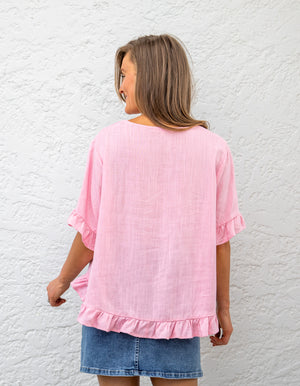 Stay True top in Pale Pink