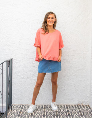 Stay True top in Coral