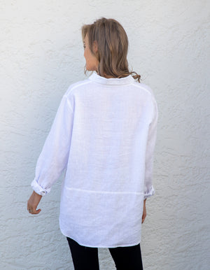 Charlie linen shIrt in White