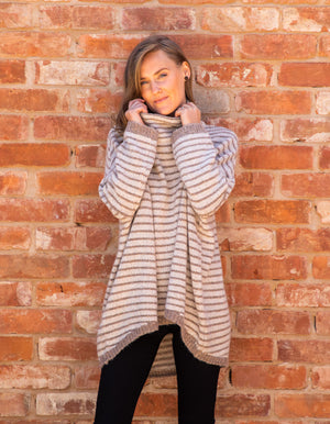 Monika jumper in Beige stripe