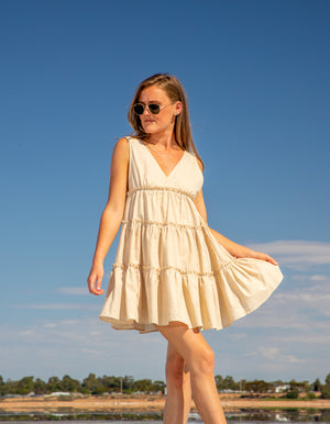 Easy to Love cotton dress in Beige