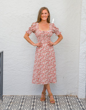 Dallas floral dress in Pink