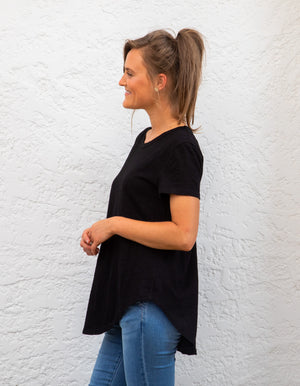 Tory cotton tee in Black
