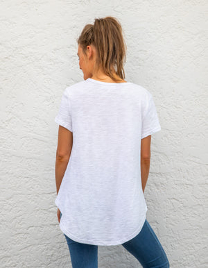 Tory cotton tee in White