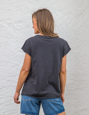END printed tee in Charcoal