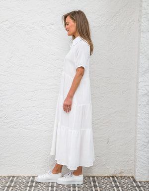 Renea cotton dress in White