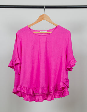 Stay True top in Hot Pink