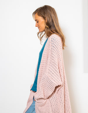 Magic Sprinkles knit cardigan in Blush