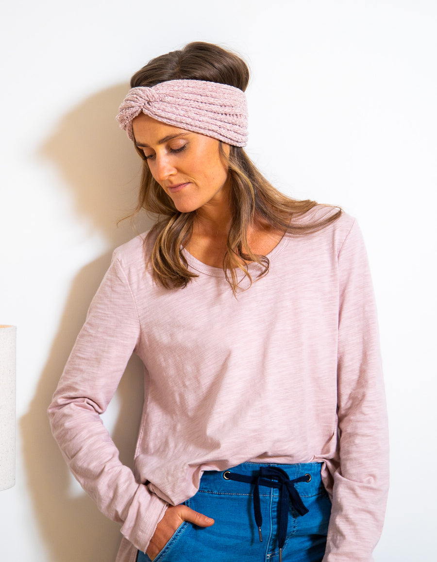Weekend cotton top in Blush