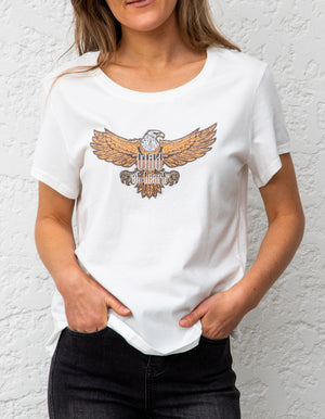 Wild at Heart tee in White