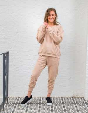 The Sophie jogger pant in Beige