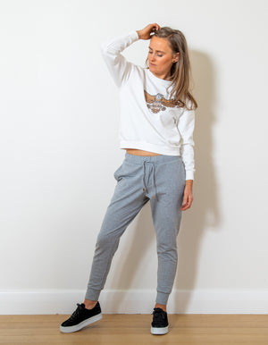 Higher Love jogger pant in Grey Marle