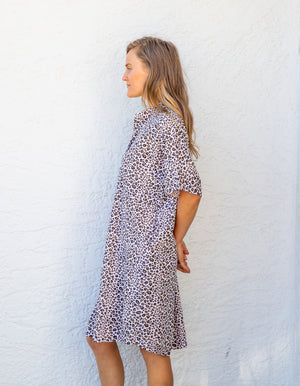 Gian leopard dress in Blush