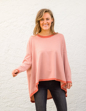 Venice stripe jumper in Rust