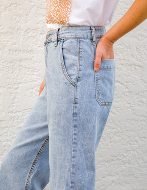 Stella high waist denim jeans in Blue